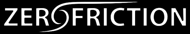 zero friction logo white